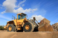 Wheel Loader at Sand Pit Stock Photo