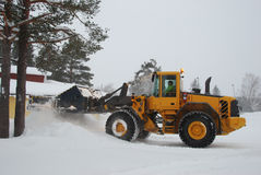 Wheel Loader (snow removal) Stock Image