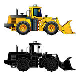 Wheel loader, vector illustration.  on white Royalty Free Stock Photography