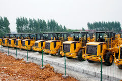 Wheel loaders Royalty Free Stock Photo