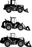 Wheel loaders. Heavy construction machine. Vector Stock Photo