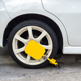 Wheel lock the car. For safety the theft royalty free stock photography