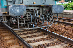 Wheel of a locomotive Stock Photos