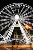 Wheel of Manchester. Best view of the city by night Royalty Free Stock Photos