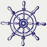 Wheel marine wooden. Doodle style. Vector vector illustration