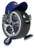 Wheel mechanic Stock Photography