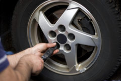 Wheel Mechanic Royalty Free Stock Image