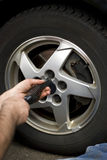 Wheel Mechanic royalty free stock photo