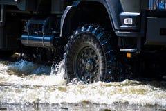 Wheel of military vehicles Royalty Free Stock Photos