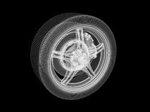 Wheel model Stock Photography