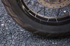Wheel of motorbike Royalty Free Stock Photo