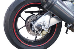 Wheel of motorcycle Royalty Free Stock Images
