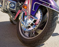 Wheel of motorcycle Royalty Free Stock Photography