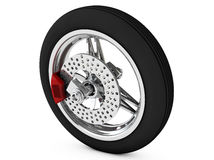 The wheel of the motorcycle 3d render Royalty Free Stock Images