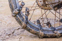 Wheel of motorcycle. Stock Photography