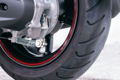 Wheel motorcycle. Wheel motorcycle on the road stock images
