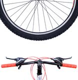 Wheel mountain bike Stock Photography