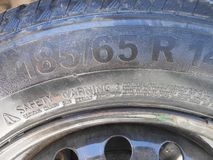 Old car wheel royalty free stock image