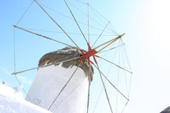 Wheel of Mykonos windmill. The windmills are the quintessential features of Mykonos' landscape. There are plenty of them that have become a part and parcel of Stock Photos