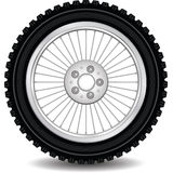 Wheel on the needles Stock Photo