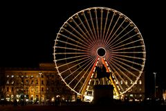 Wheel by the night Royalty Free Stock Photography