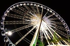 Wheel at nighttime. Wheel nighttime at ASIATIQUE Thailand stock photo