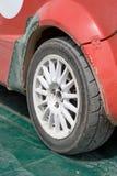 Wheel Of The Rally Car Stock Photos