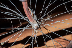 Wheel of a bike Royalty Free Stock Photography
