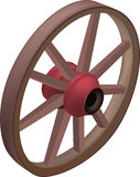 Wheel from an old cart Royalty Free Stock Photography