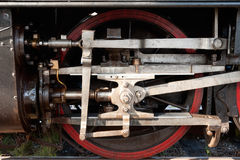 Wheel of an old locomotive Royalty Free Stock Photo