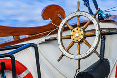 Wheel of an old sailing ship Stock Image
