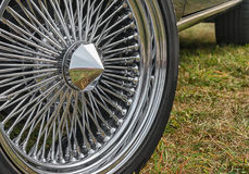 Wheel of an old sports car Royalty Free Stock Image