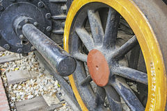 Wheel old steam locomotive Royalty Free Stock Photos