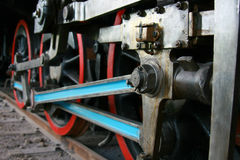 Wheel of an old steem train Stock Photography