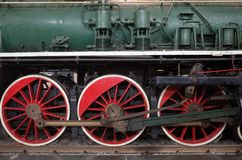 Old steam locomotive  in last century Royalty Free Stock Images