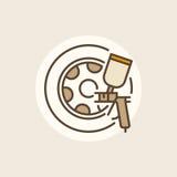 Wheel paints icon Stock Photography