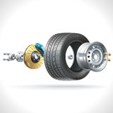 Wheel Parts Stock Images
