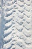 Wheel print on snow Stock Image