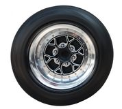 Wheel for racing car Stock Images