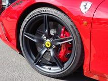 Wheel of a racing car. Roue et frein à disk & x27;une célébre voiture de course italienne Stock Photos