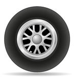 Wheel for racing car vector illustration EPS 10. Isolated on white background Royalty Free Stock Photos