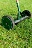 Wheel rake on grass. Stock Photo