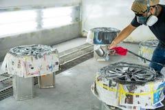 Wheel repair ,Wheel repairman stock images