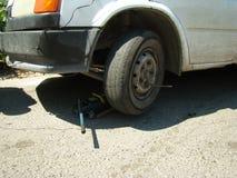 Wheel replacement Stock Photo