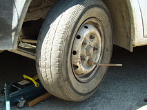 Wheel replacement Stock Image