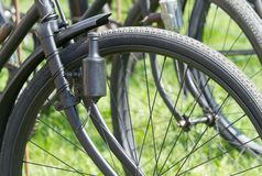 Wheel retro bicycle Royalty Free Stock Image