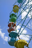Wheel of review in the park. On blue sky background Royalty Free Stock Images