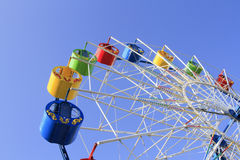 Wheel of review in the park on blue sky Stock Photo