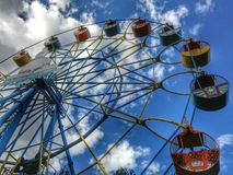 Wheel of review. On the sky Royalty Free Stock Image