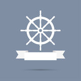 Wheel with ribbon. Royalty Free Stock Image